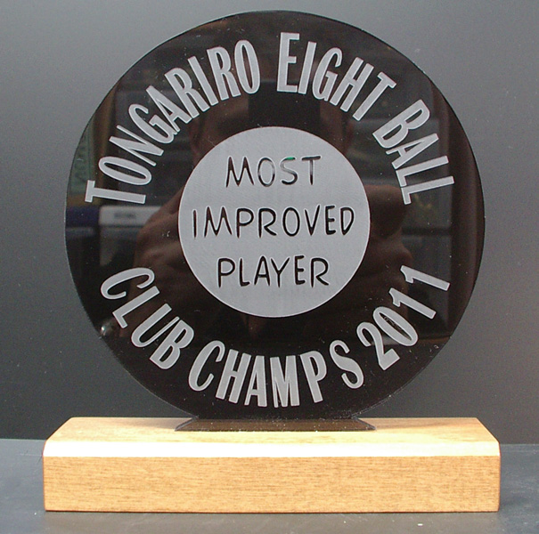 8 Ball (Pool) Trophy - Engrave It Taupo